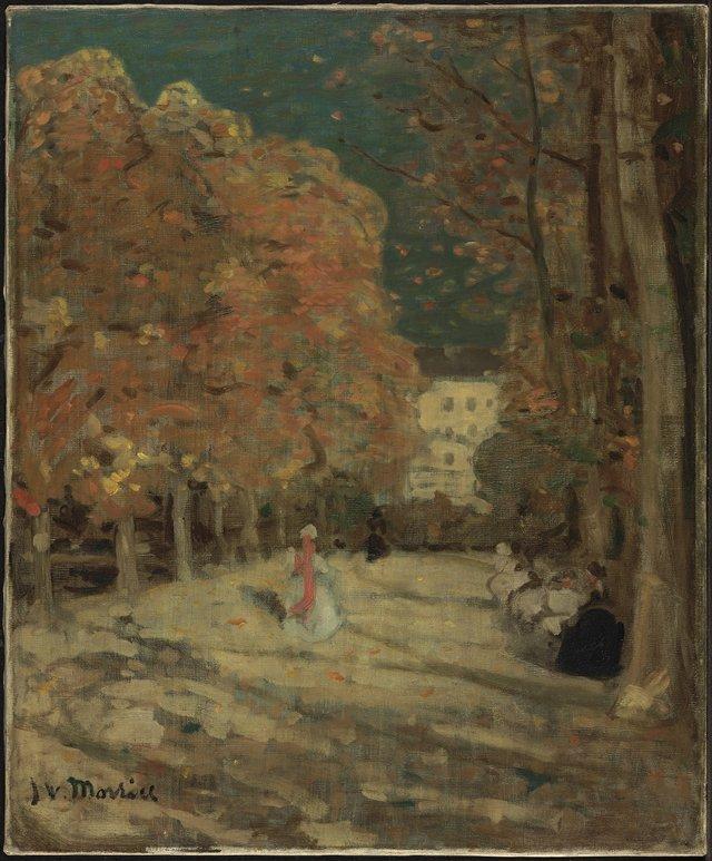 "James Wilson Morrice, ""Luxembourg Gardens, Paris,"" circa 1905"