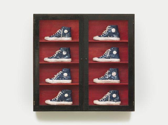 "Gathie Falk, ""Blue Running Shoes,"" circa 1975"