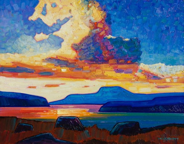"Nicholas Bott, ""B.C. Coast Sunset,"" no date"
