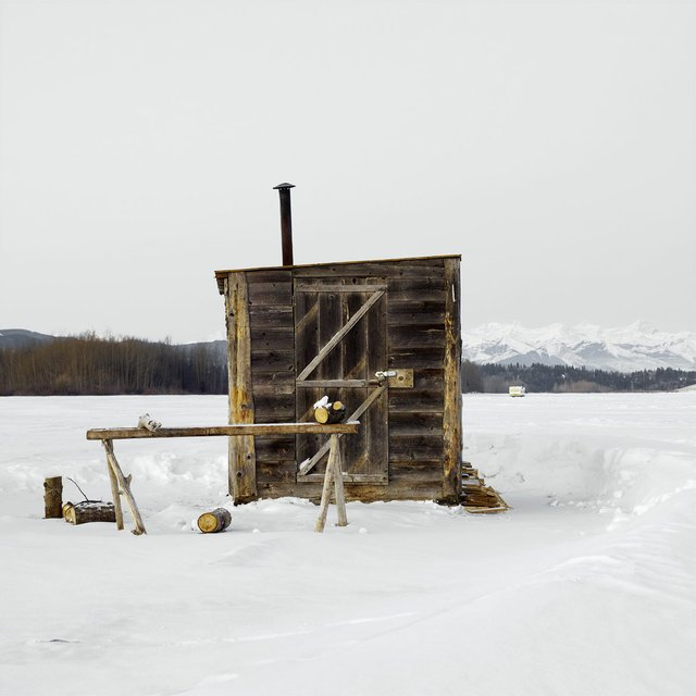 "Richard Johnson, ""Ice Hut #556, Cochrane, Ghost Lake, Alberta, Canada,"" 2011 (courtesy of the artist)"