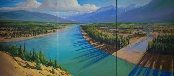 "Charlie Easton, ""'Athabasca Grandeur Triptych,"" 2018"