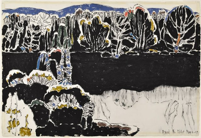 "David Milne, ""Reflected Forms,"" 1917"