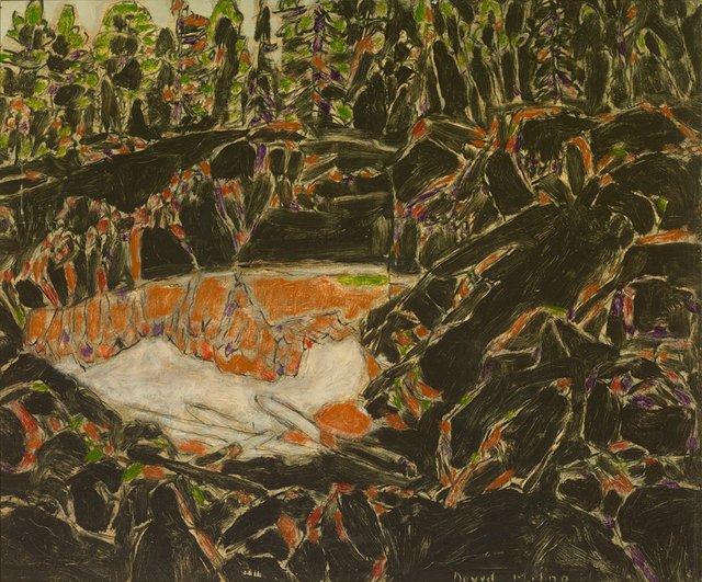 "David Milne, ""Red Pool, Temagami,"" 1929"