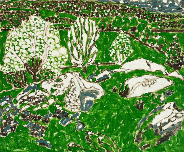 "David Milne, ""White Trees in a Green Valley,"" circa 1916"