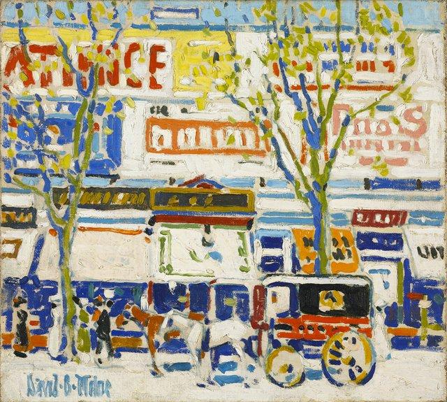 "David Milne, ""Billboards,"" circa 1912"