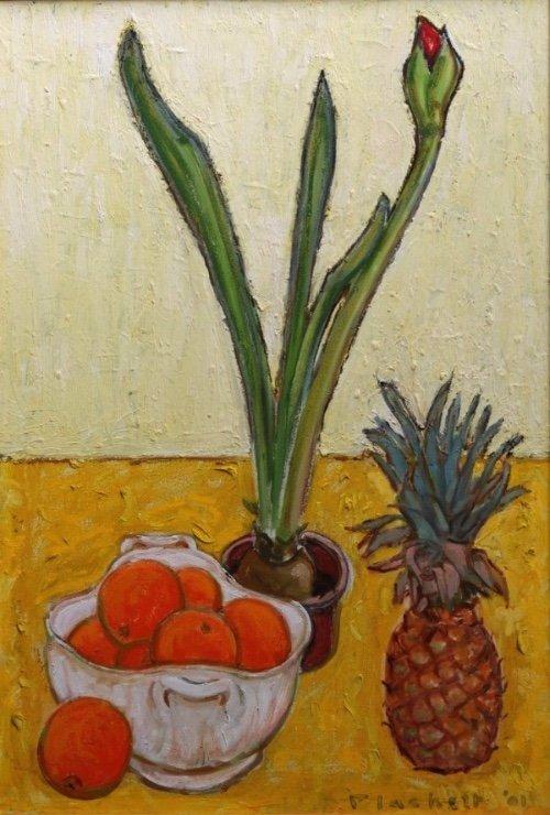 "Joseph Plaskett, ""Amaryllis in Bud,"" 2001"