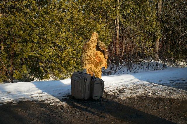 "Michel Huneault, ""Untitled 2, Roxham Road,"" 2017"