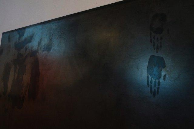 "Jeneen Frei Njootli, ""wind sucked through bared teeth (detail),"" 2017"