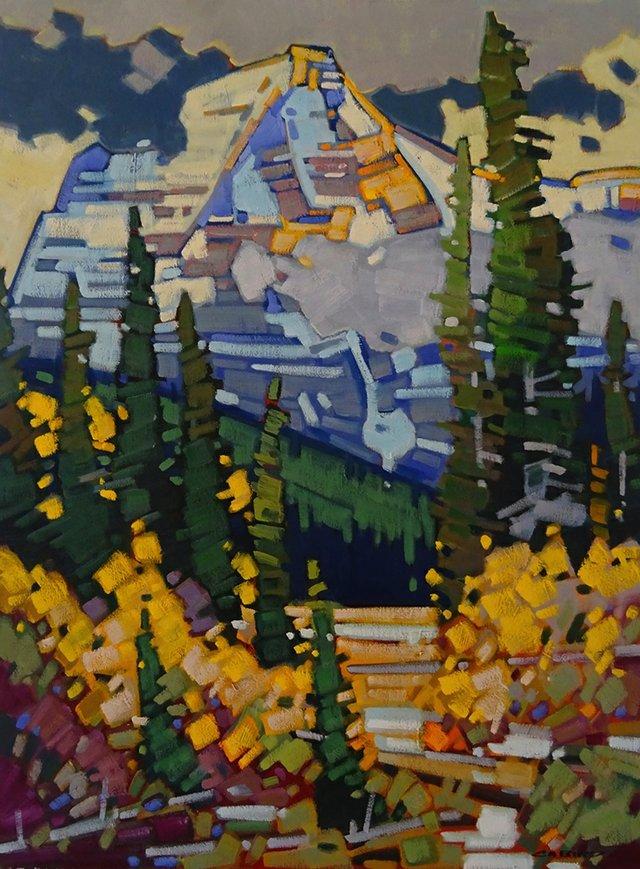 "Cameron Bird, ""Breaking Storm Over Mt. Robson,"" nd"