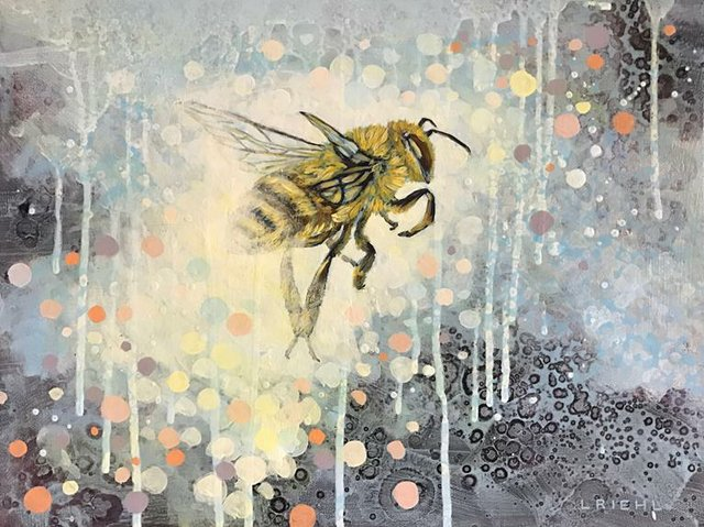 "Lisa Riehl, ""Tricky Little Bee,"" nd"