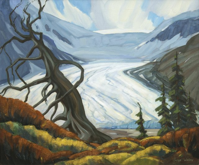 """Peter Whyte, """"Athabasca Glacier,"""" 1940-1950"""