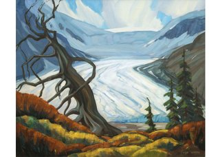 "Peter Whyte, ""Athabasca Glacier,"" 1940-1950"
