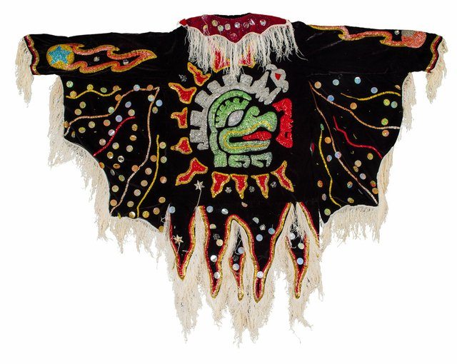 "Felipe Horta, ""Untitled,"" undated, fragment of a devil tunic worn for Christmas plays in Mexico (photo by Alina Ilyasova, courtesy of UBC Museum of Anthropology)"