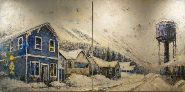 "Mark Holliday and Aaron Sidorenko, ""Field Painting #1,"" 2017"