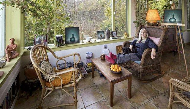 Mona Fertig at home on Salt Spring Island.