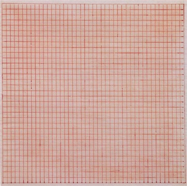 "Agnes Martin, ""Untitled,"" 1963 (©Agnes Martin courtesy of WikiArt)"