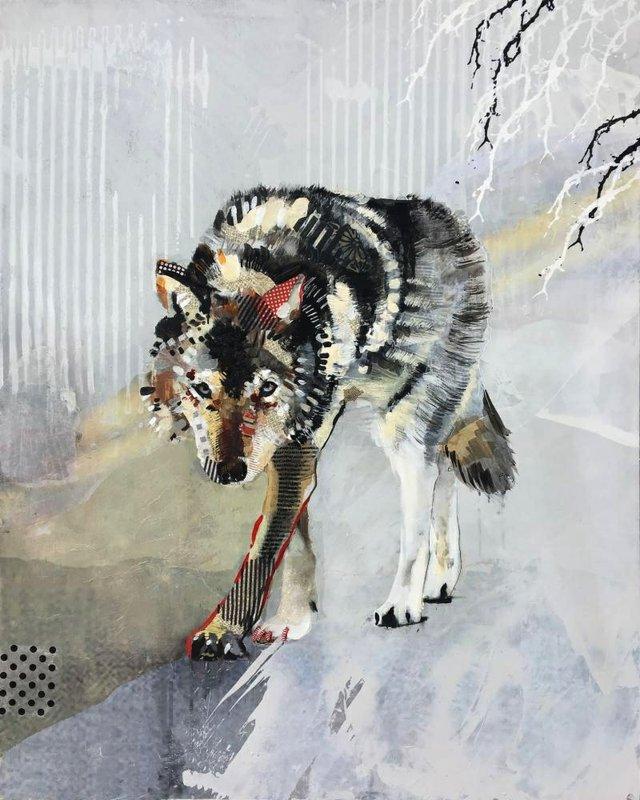 "Samantha Walrod, ""Wolf Stalking,"" 2018"