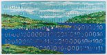 """Landscape With Sailboats (Digital Code Conversion Series) (detail)"""
