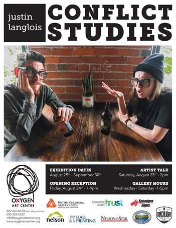 "Justin Langlois, ""Conflict Studies,"" 2018"