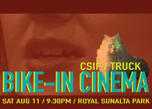"""Truck Contemporary Art in Calgary & Calgary Society of Independent Filmmakers, """"Bike-In Cinema,"""" 2018"""