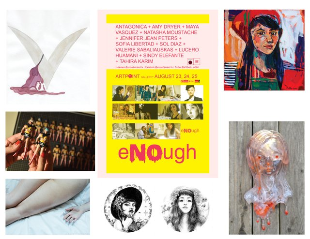 """eNOugh,"" Tahira Karim, Sandra Murillo, Natasha Moustache, Amy Dryer, Maya Vasquez, Sofia Libertad"