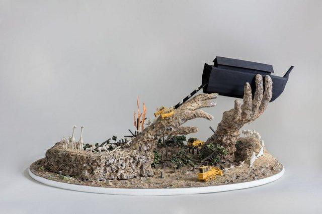 "Jude Griebel, ""Black Ark (detail),"" 2018"