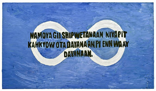 "Cameron Flamand, ""Enn Waay Dayanaan: We Have a Voice,"" 2018"