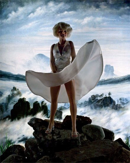 "Diana Thorneycroft, ""Wanderer Above a Sea of Ice (Marilyn) 9/20,"""