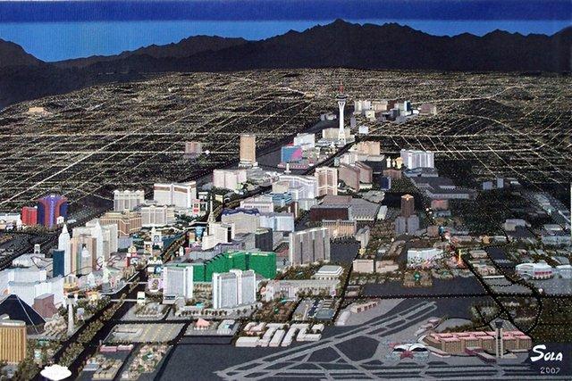 "Sola Fiedler, ""Las Vegas tapestry,"" 2009"