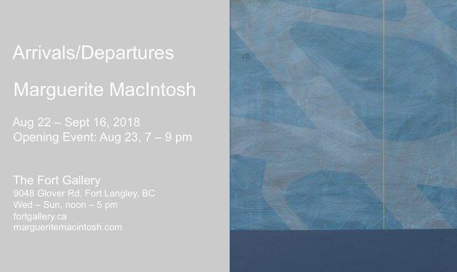 "Marguerite MacIntosh and Alex Burton, ""Arrivals/Departures,"" 2018"
