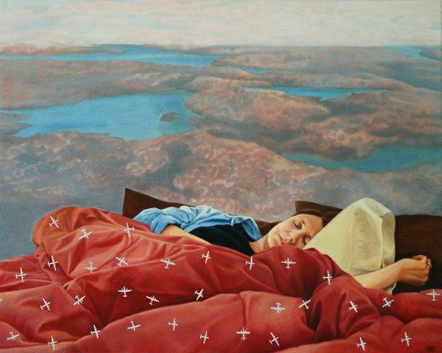 "Madeleine Wood, ""Remembering Flight,"" 2018"