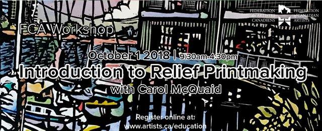 "Carol McQuaid, ""Introduction to Relief Printmaking,"" 2018"