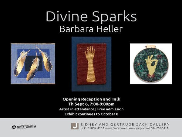 "Barbara Heller, ""Three tapestries,"" 2018"
