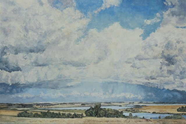 """D. Knowles, """"Clouds Over Prairie,""""  2009"""