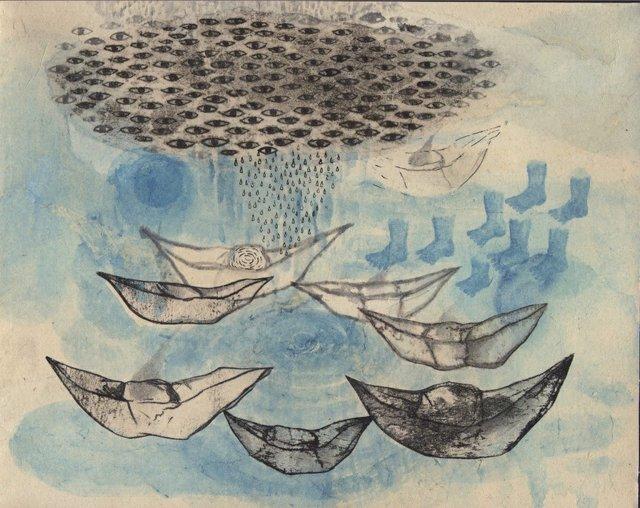 """Tomoyo Ihaya, """"water ship,"""" 2018"""