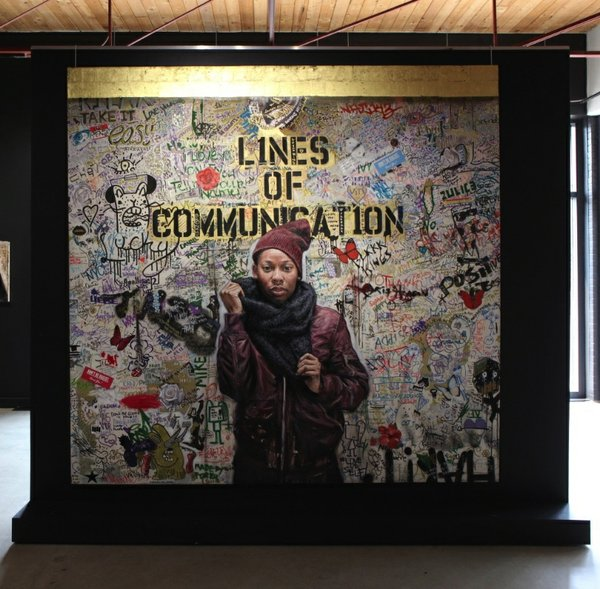 "Tim Okamura, ""Lines of Communication,"" 2018"