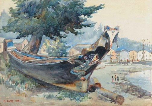 """""""War Canoe, Alert Bay"""""""