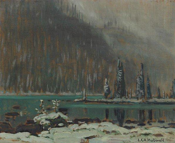 """'Snow, Lake O'Hara"""""""
