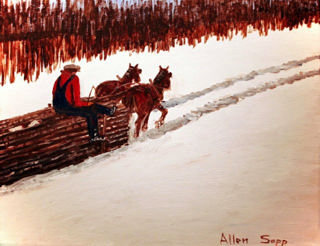"Allen Sapp, ""Going Home with a Full Load,"" nd"