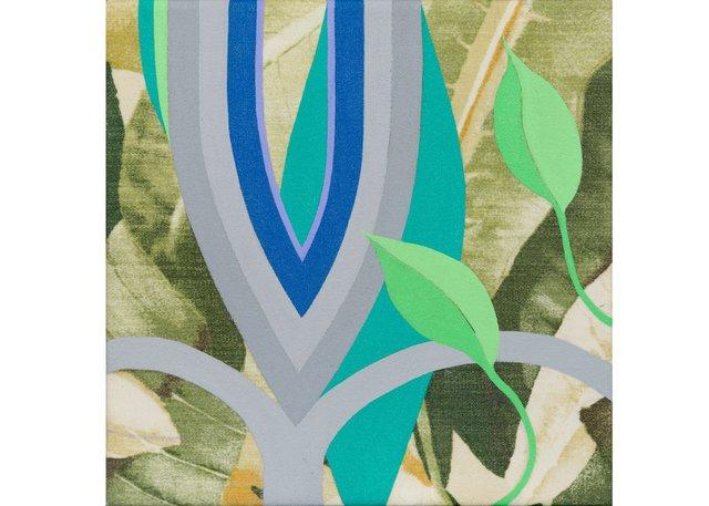 """Megan Frances Abrahams, """"Fleur de Lys 12 (Leaves),"""" 2017"""