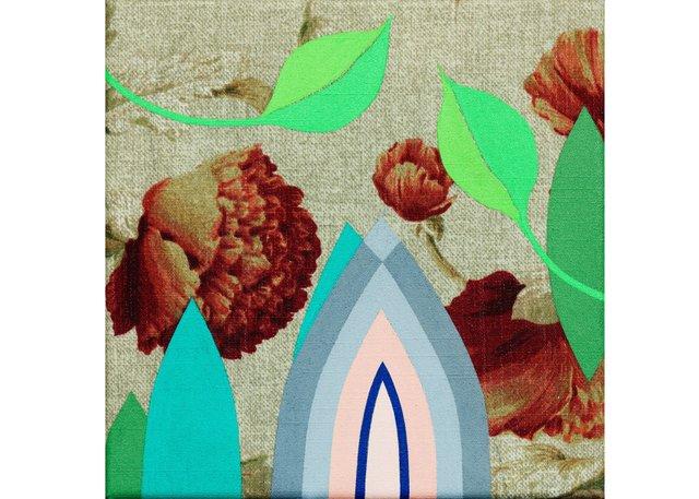 """Megan Frances Abrahams, """"Fleur de Lys 14 (Flowers),"""" 2018"""