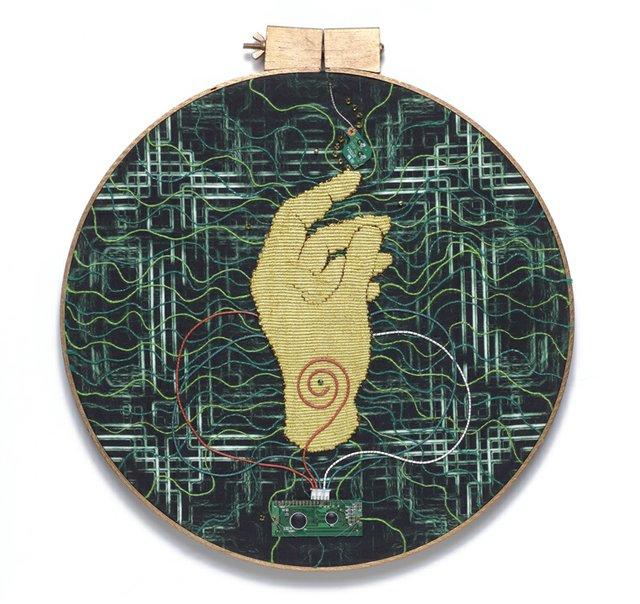 "Barbara Heller, ""Apan Mudra from the Integrated Circuits series,"""
