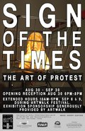 """Lake County Art Gallery, """"Sign of the Times: the Art of Protest,"""" 2018"""