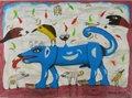 """Harin Vakil, """"Blue Dog,"""" nd"""