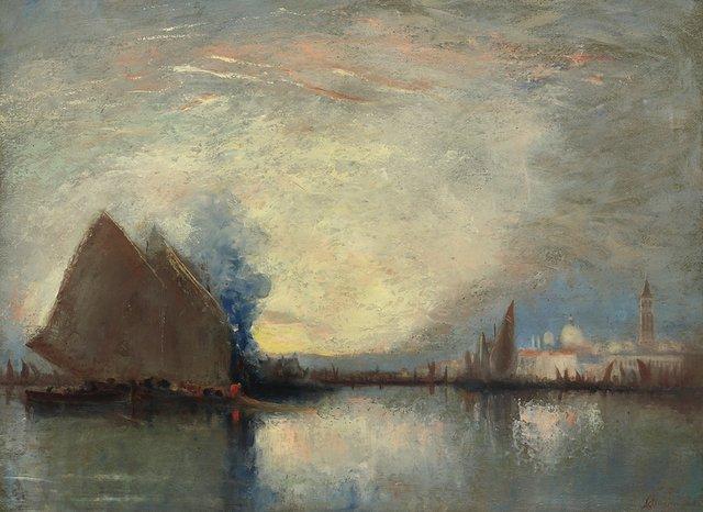 """John A. Hammond, """"Evening, Venice,"""" nd"""