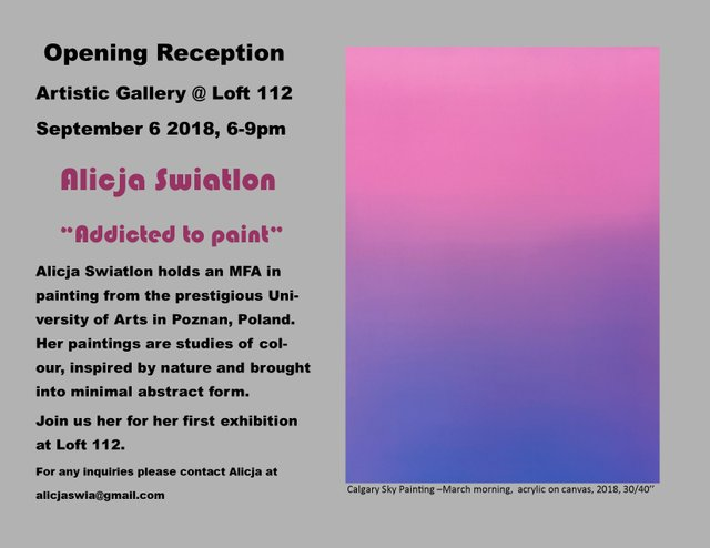 "Alicja Swiatlon, ""Calgary Sky Painting-March morning,"" 2018"