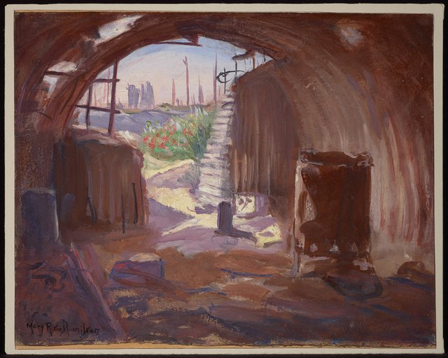 "Mary Riter Hamilton, ""Interior of a Pillbox, Flanders,"" 1920"