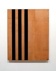 """Robert Kelly, """"Palimpsest,"""" 2016, oil/mixed media on canvas, 43.5"""" x 28"""""""