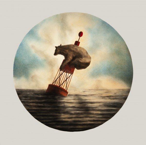 """Randall Finnerty, """"Bear on a Buoy,"""" 2018"""