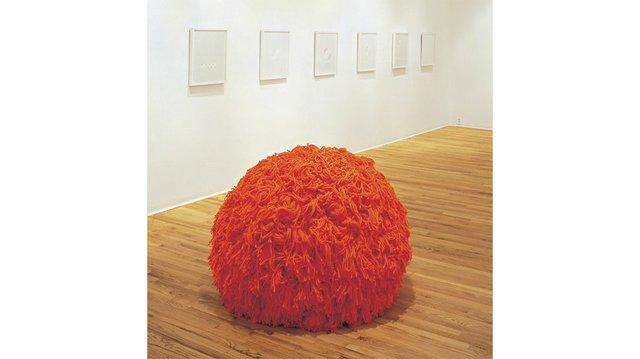 "Kathy Slade, ""Orange Pom-pom,"" 2002"